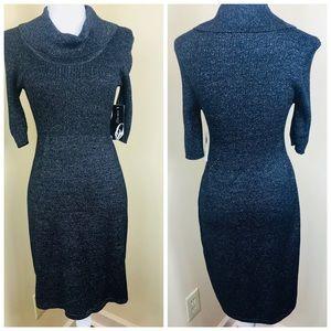 NWT Nine West Cowl Neck Sparkle Sweater Dress